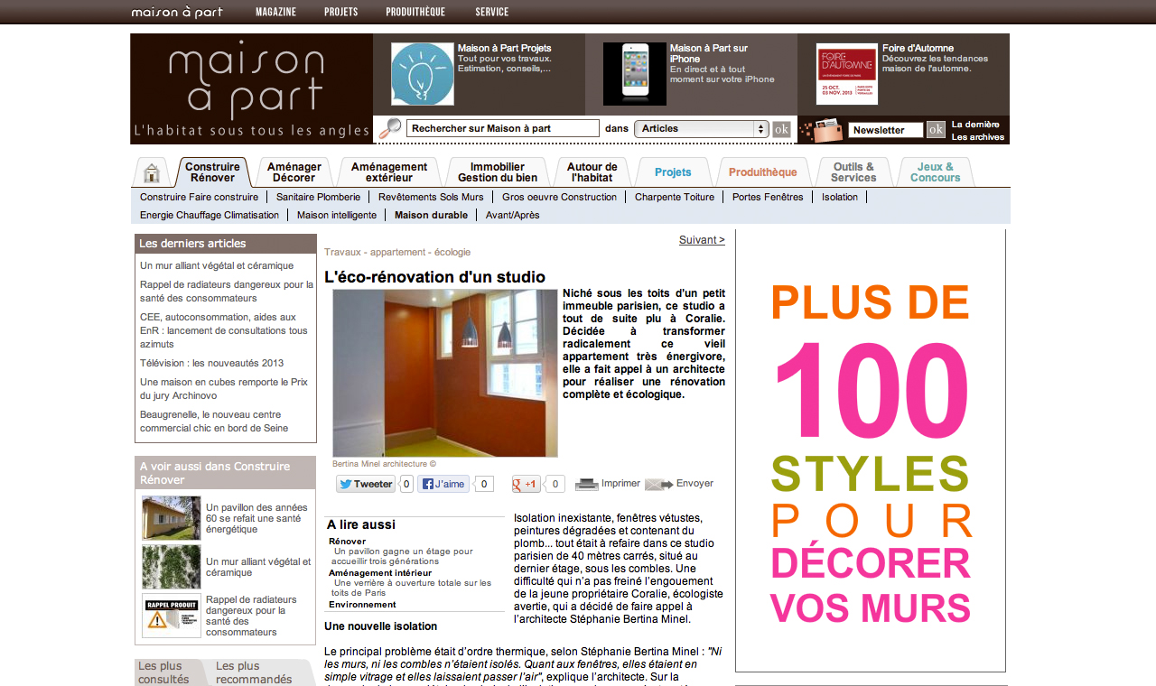 article maison part l co r novation d un studio bertina minel architecture. Black Bedroom Furniture Sets. Home Design Ideas