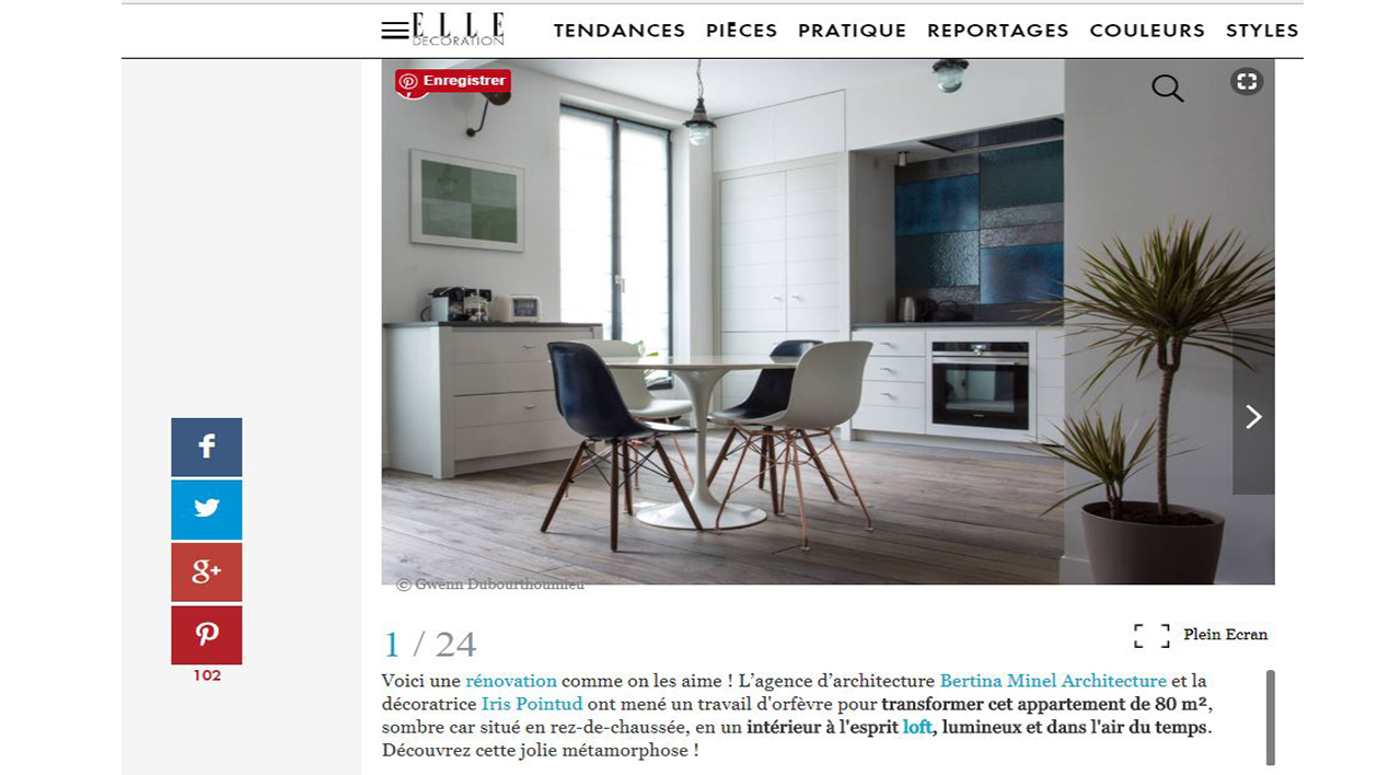 article elle décoration architecte